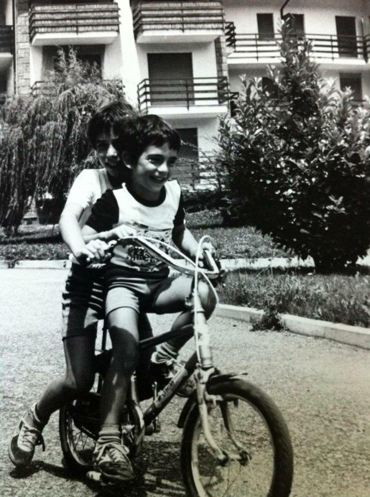 """Luca ed io sulla """"bici d'oro"""""""